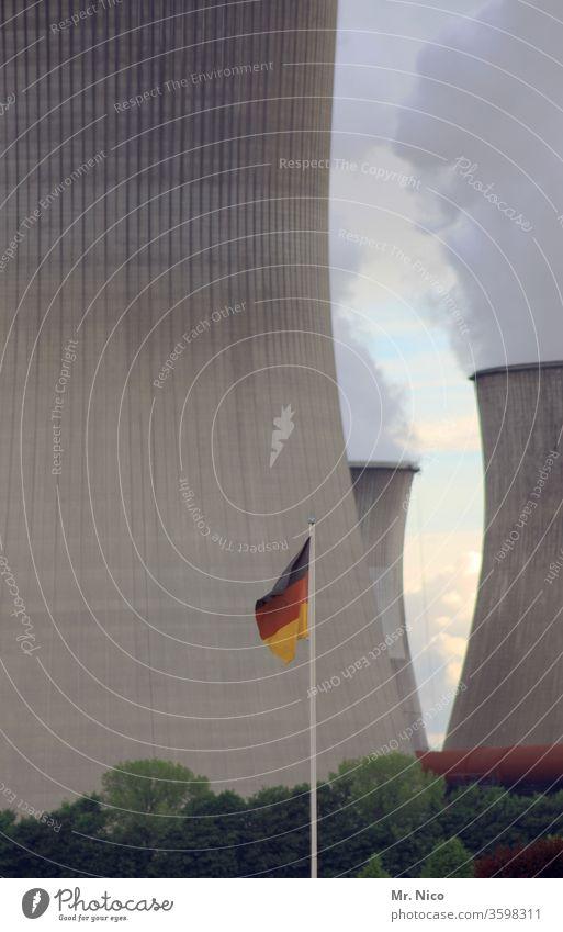 Deutsches Kraftwerk Energiewirtschaft Kohlekraftwerk Klimawandel Fabrik Industrieanlage Kühlturm Schornstein Heizkraftwerk Stromkraftwerke Umwelt Deutschland