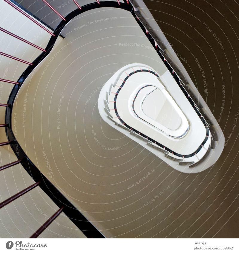 Hinauf Stil Karriere Treppe Treppenhaus Treppengeländer Zeichen Optimismus Perspektive Zukunft hoch Spirale aufstrebend Innenarchitektur rund Oval Farbfoto