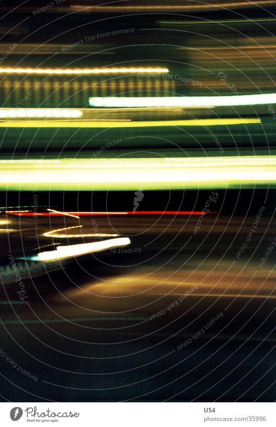 Scratch Licht Nacht diffus obskur abstraktion Straße PKW Unschärfe