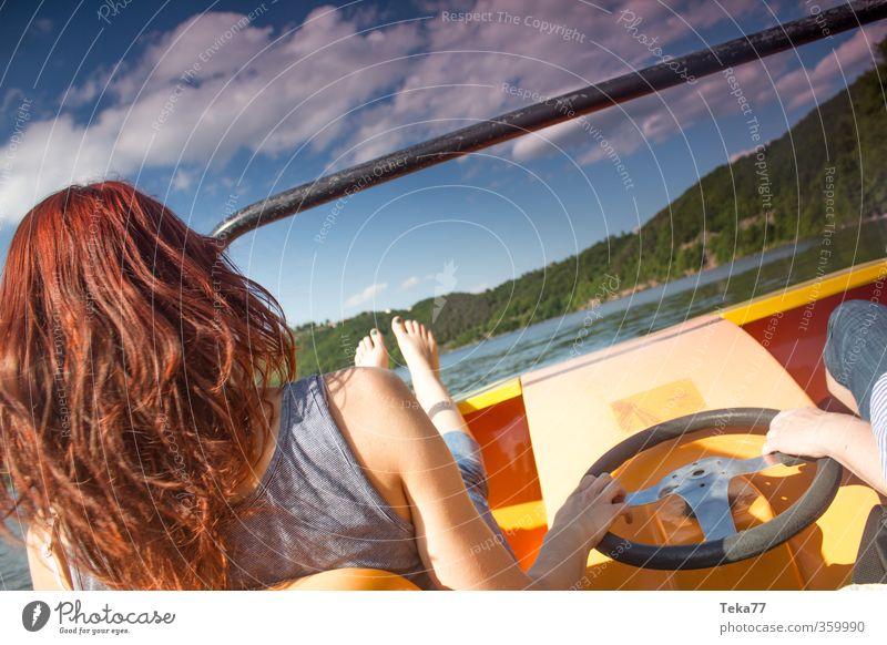Am / auf dem Sommersee Freizeit & Hobby Ferien & Urlaub & Reisen Tourismus Freiheit Sonne Strand Mensch feminin 1 18-30 Jahre Jugendliche Erwachsene Umwelt