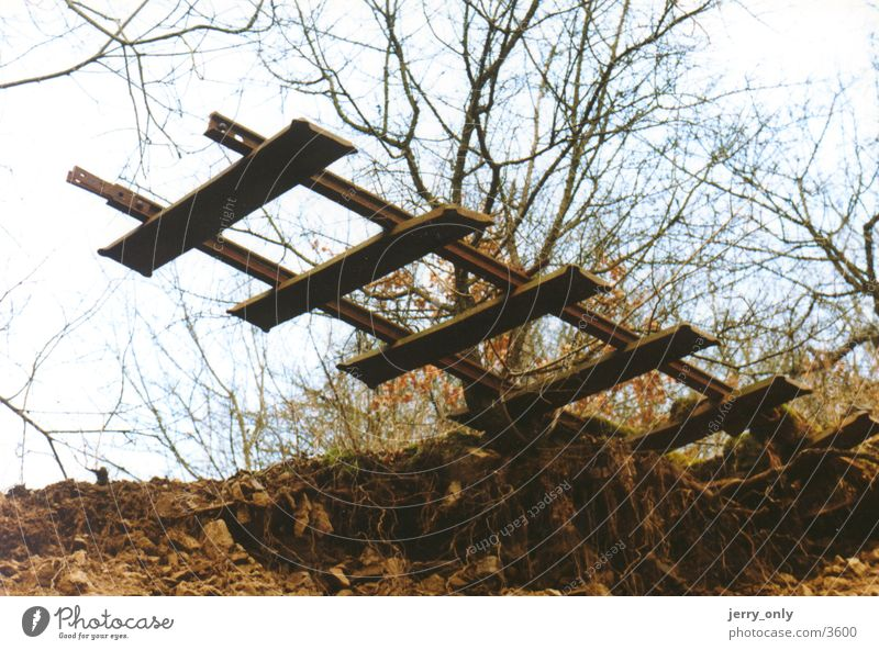 The End Umwelt Eisenbahn Industriefotografie Gleise seltsam