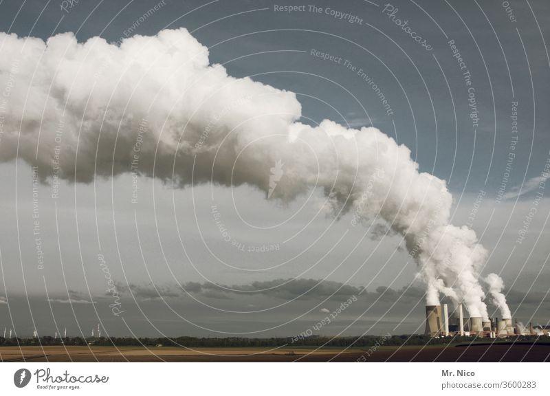 Kraftwerk Energiewirtschaft Klimawandel Kohlekraftwerk Fabrik Industrie Kühlturm Industrieanlage Schornstein Heizkraftwerk Stromkraftwerke Umwelt