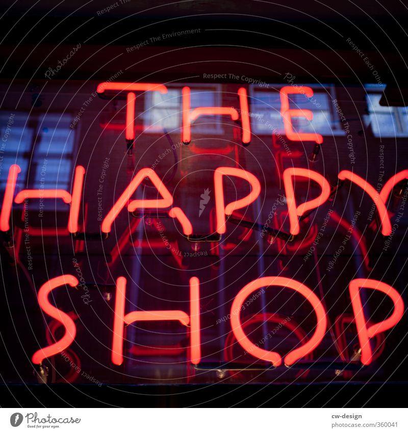 So what? Handel Medienbranche Unternehmen Leuchtreklame Informationstechnologie Glas Zeichen Schriftzeichen Schilder & Markierungen Hinweisschild Warnschild