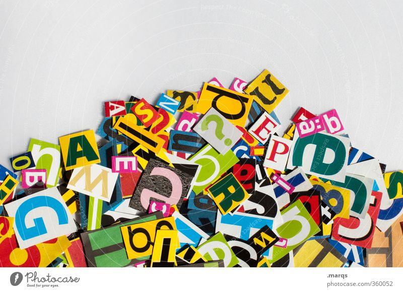 Kauderwelsch Design modern Schriftzeichen Zukunft Kreativität Zeichen viele Typographie chaotisch Wort Fragen Werbebranche Rede Text Kriminalität Sprache