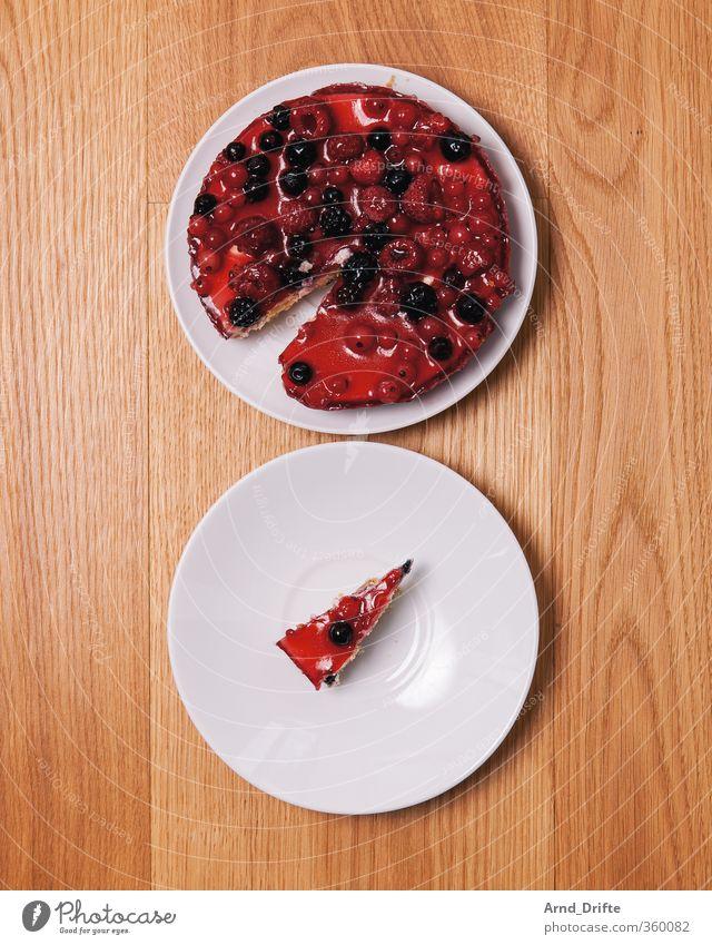 So lonely 1 Einsamkeit Traurigkeit klein Essen groß viele Teile u. Stücke Kuchen Partnerschaft Holzbrett Teller wenige Torte Holztisch Diagramm