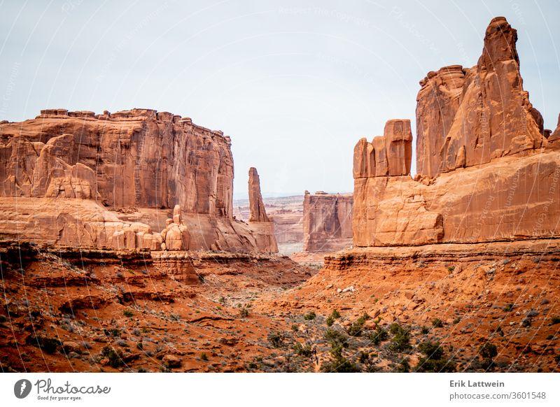 Arches-Nationalpark in Utah - berühmtes Wahrzeichen Park Bogen national Felsen USA Landschaft malerisch Moab amerika Erosion Geologie Sandstein wüst Bögen