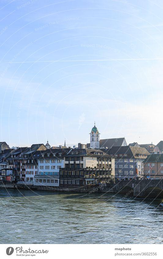 Gebäude am Rhein, Altstadt, Rheinfelden, Aargau Häuser aargau altstadt baden baden-württemberg brücke brückenbogen deutschland fließen fluss grenze grenzfluss