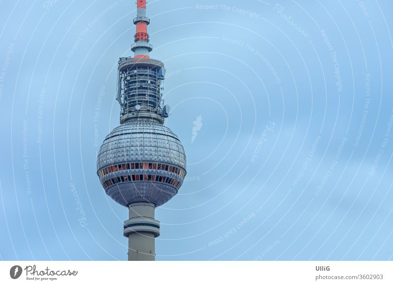 Berliner Fernsehturm Television Fernsehen Turm Sendemast Radio Funk Technologie Funkturm Ostberlin DDR Architektur Wahrzeichen Ostdeutschland Sightseeing