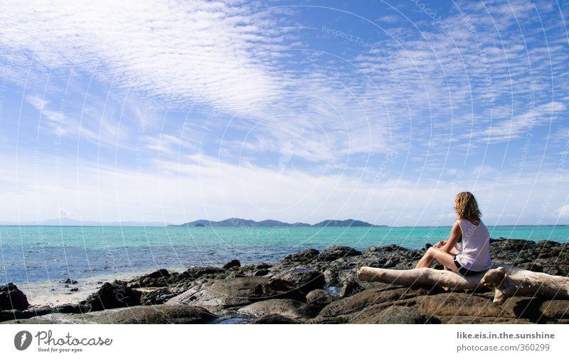 fiji erweitert den horizont Jugendliche Ferien & Urlaub & Reisen Sommer Meer Erholung ruhig Freude Junge Frau Strand Erwachsene Ferne Leben 18-30 Jahre feminin Freiheit Glück