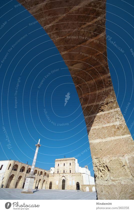 Santa Maria di Leuca Himmel Wolkenloser Himmel santa maria di leuca Italien Hafenstadt Menschenleer Kirche Dom Turm Tor Bauwerk Gebäude Architektur Mauer Wand