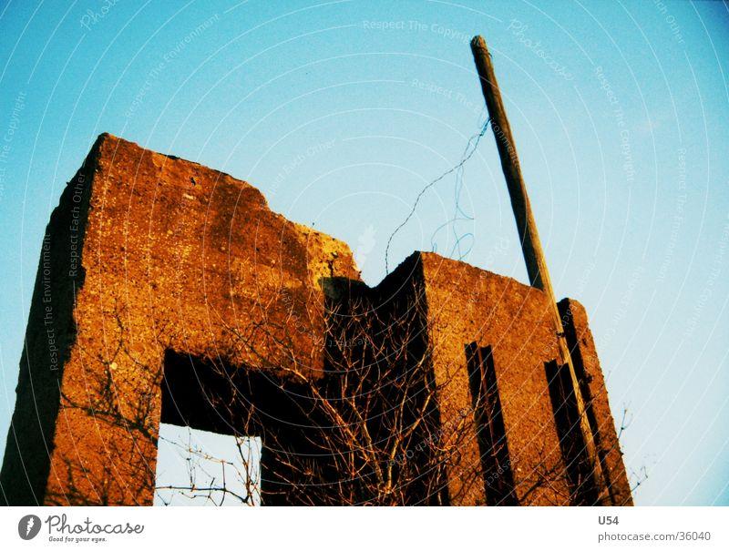 beton #1 Himmel Haus Architektur Beton Ruine Krieg Dachboden