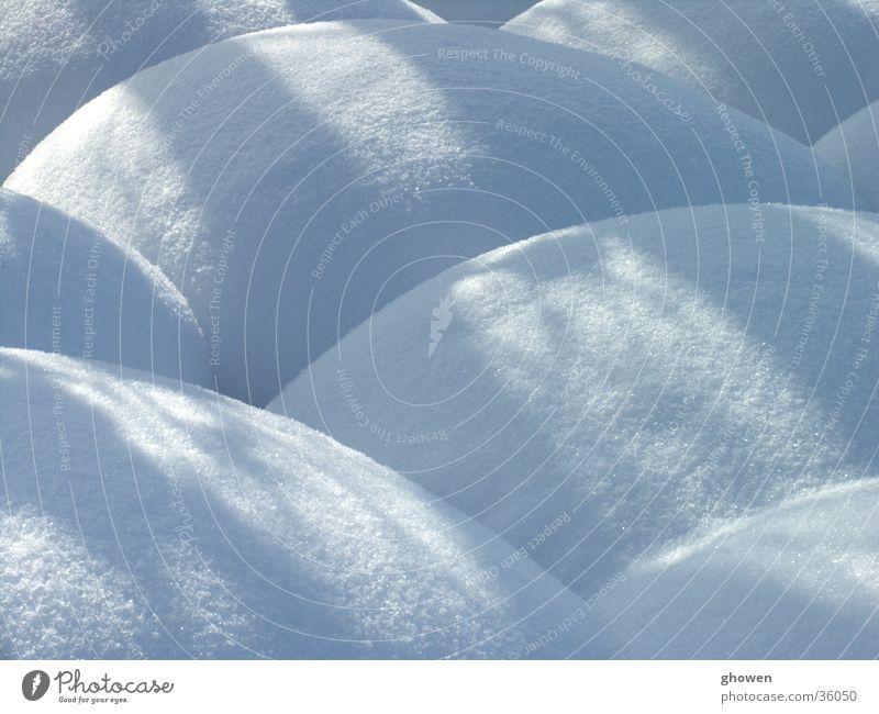 Heuballen im Schnee Kugel