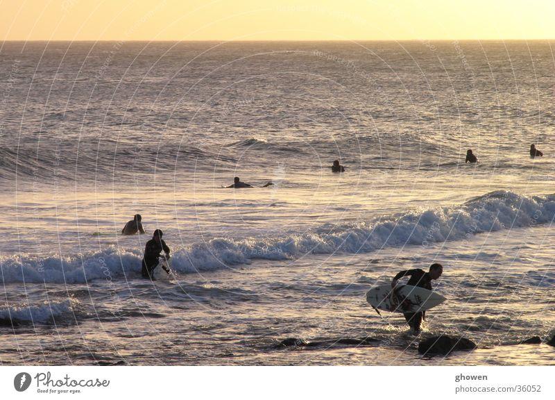 Surf is over Wasser Meer Wellen Surfer