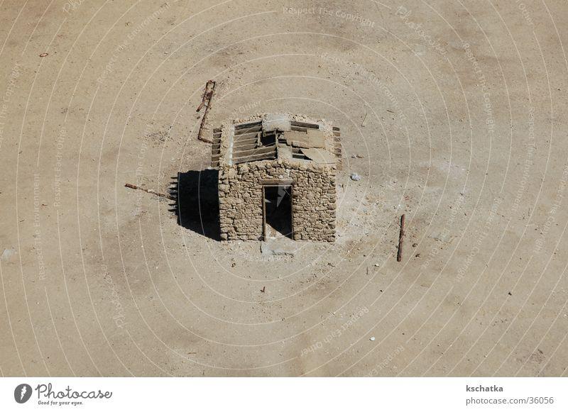 einsam Haus Einsamkeit Zufriedenheit Wüste Leuchtturm Ödland