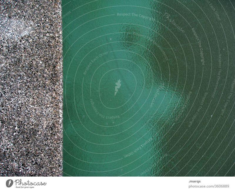 Beckenrandprofil Eis kalt Winter Eisfläche gefroren grün grau Schwimmbad Strukturen & Formen