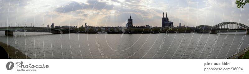 Köln Panorama Architektur groß Brücke Köln Rhein Altstadt