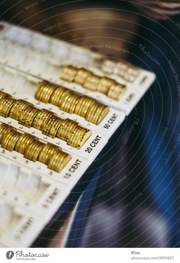 Münzzählbrett zum Sortieren von Geld und Münzen Zählbrett geldmünzen sortieren zählen Abrechnung Wechselgeld Bargeld Euro Geldmünzen Kapitalwirtschaft Cent