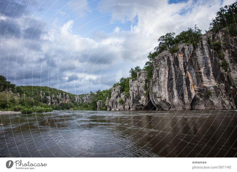 Canyon Himmel Natur Ferien & Urlaub & Reisen blau Wasser Sommer Pflanze Baum Landschaft Wolken Umwelt Berge u. Gebirge natürlich Felsen Wetter wandern