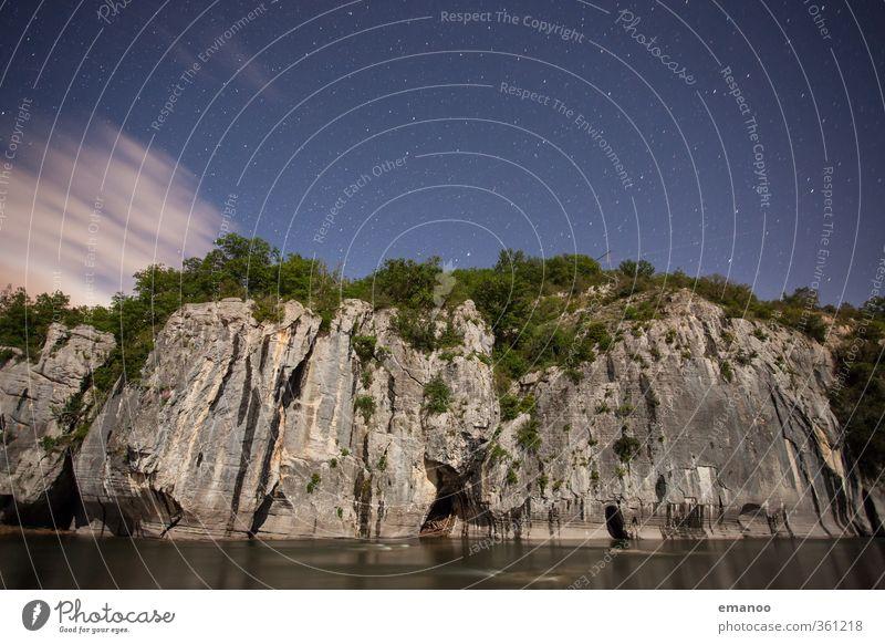 limestone night Himmel Natur Ferien & Urlaub & Reisen blau Wasser Sommer Landschaft Wolken dunkel Freiheit Felsen Freizeit & Hobby Ausflug Stern Klettern