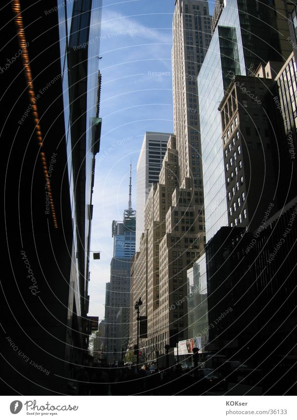 New Yorker Straßen 1 Stadt Architektur Hochhaus New York City
