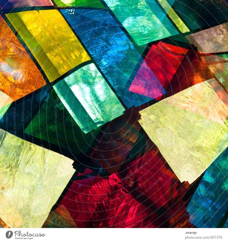 Buntglas Stil Design Fenster Glas außergewöhnlich Coolness trendy einzigartig verrückt mehrfarbig Farbe Perspektive Surrealismus Kirchenfenster leuchten Mosaik