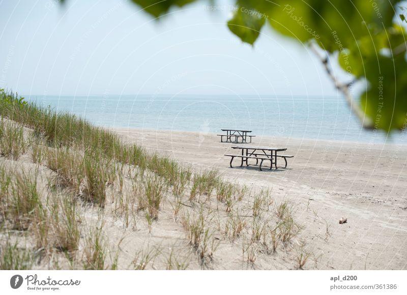 Bankenviertel Himmel Natur Ferien & Urlaub & Reisen blau Pflanze grün Baum Landschaft Strand Umwelt Gras grau Sand See hell Park