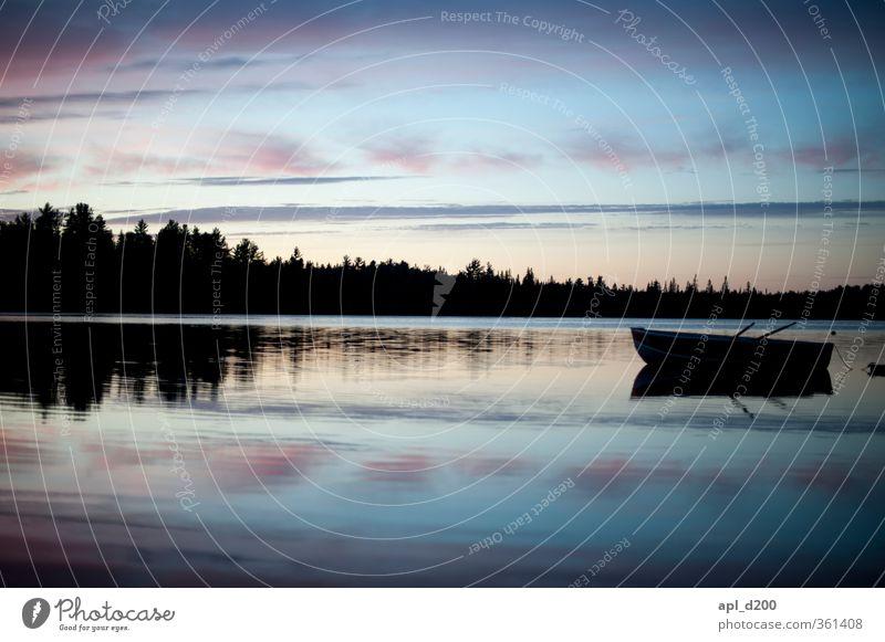 Ruhe nach der WM Erholung ruhig Freizeit & Hobby Wasserfahrzeug Ferien & Urlaub & Reisen Abenteuer Umwelt Natur Landschaft Himmel Wolken Nachthimmel Frühling