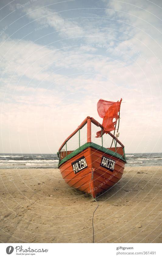 trockenübung Arbeit & Erwerbstätigkeit Beruf Arbeitsplatz Wirtschaft Umwelt Natur Urelemente Sand Wasser Himmel Wolken Wind Wellen Küste Strand Ostsee Meer alt