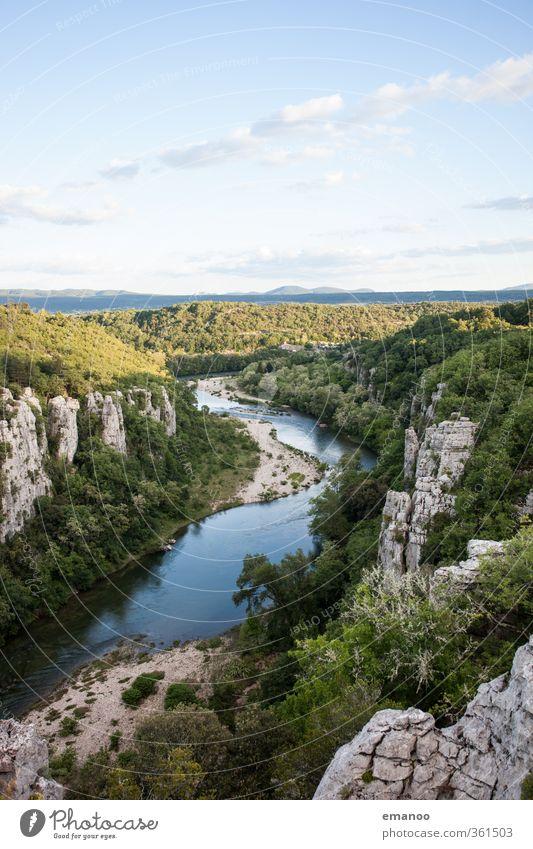 le chassezac Himmel Natur Ferien & Urlaub & Reisen grün Wasser Sommer Landschaft Wald Felsen Wetter Klima Tourismus wandern hoch Ausflug Abenteuer