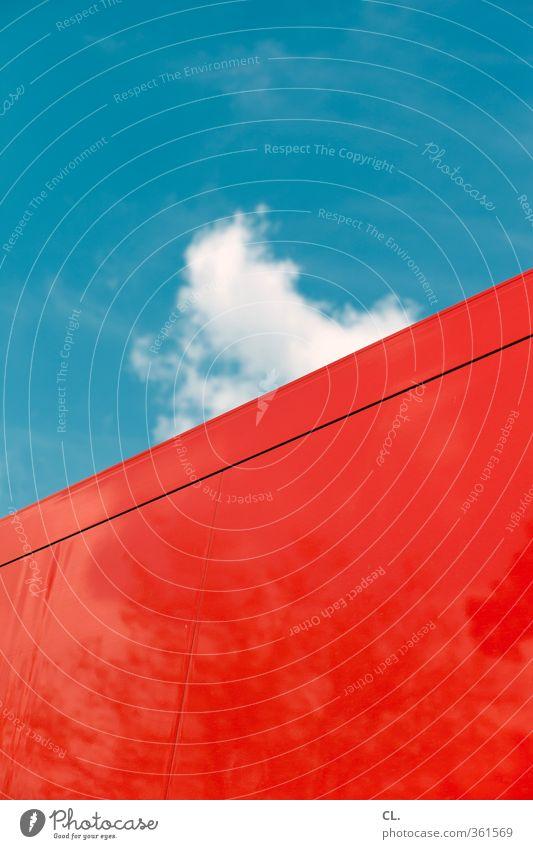 festivalwetter Himmel Natur Ferien & Urlaub & Reisen blau schön weiß Sommer Sonne Farbe rot Wolken Umwelt Wand Wärme Bewegung Frühling