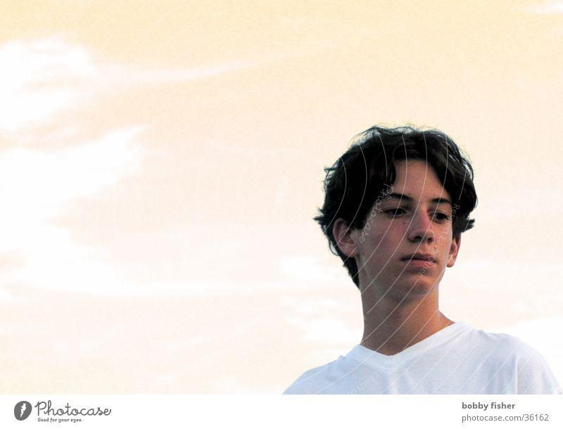 teenager Mensch Jugendliche alt Gesicht Haare & Frisuren träumen Denken reduzieren Pastellton