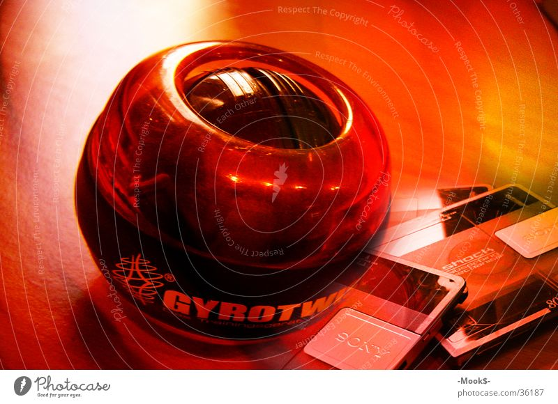 Gyrotwister rot Wärme Brand Ball Freizeit & Hobby Physik Kugel