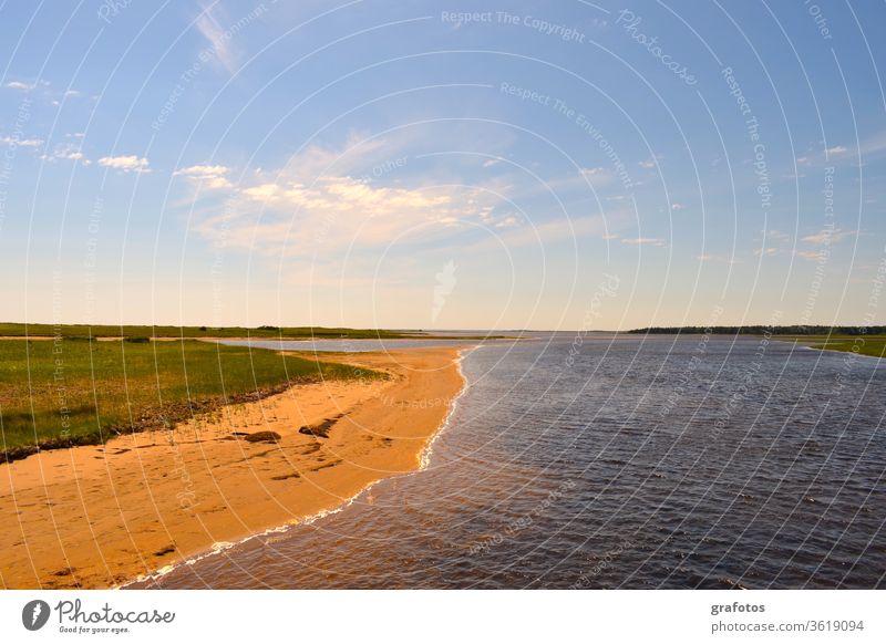Red-Cove-Blue-Water Rot Wasser blaues Wasser Bucht Strand Tourismus Ferien Meer Ferien & Urlaub & Reisen Schönes Wetter Küste Sommer Außenaufnahme Farbfoto
