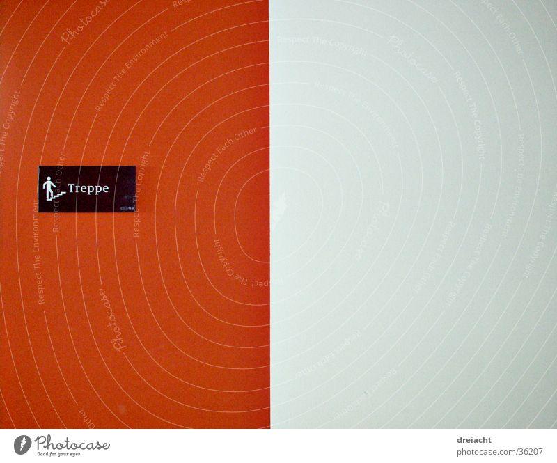 Treppe Rot-Weiß weiß rot Schilder & Markierungen Streifen Hinweisschild Fototechnik Dessau