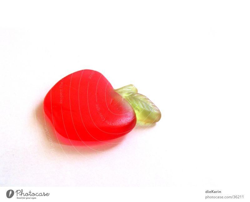 apfel rot Frucht Ernährung süß lecker Süßwaren Apfel Gummibärchen Sünde Geschmackssinn Weingummi
