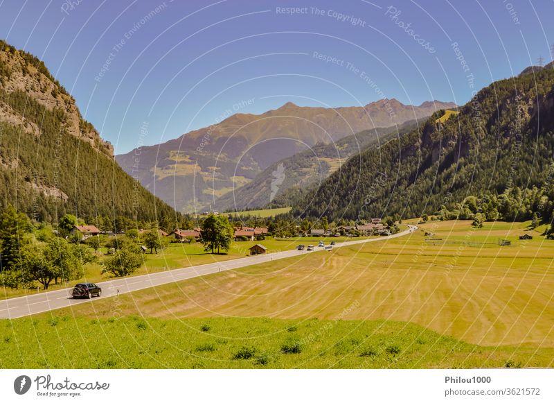 Österreichische Landschaft bezaubernd alpin Alpen Österreicher Hintergrund schön Schönheit in der Natur blau Wolken Farbbild Dolomiten berühmter Ort Feld Wald