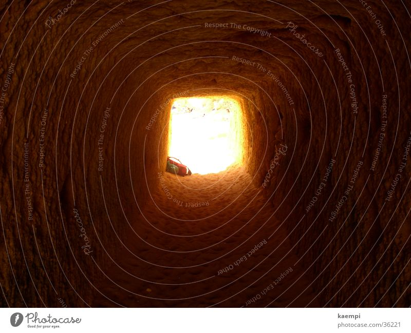 licht am ende des tunnels Sommer Strand Ferien & Urlaub & Reisen Felsen Europa Tunnel Portugal Algarve