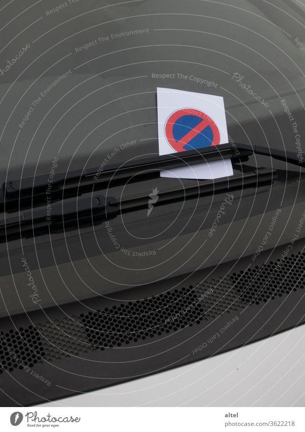Parkverbot Strafzettel Knöllchen Verwarnung ordnungswidrig Bußgeld Bußzettel Bussenzettel Repressalie Ordnungswidrigkeit Schilder & Markierungen parken