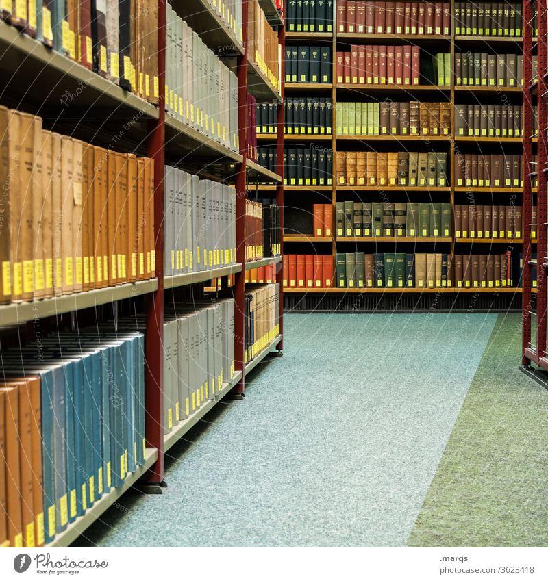 Bibliothek Bildung Studium Buch lesen lernen Erwachsenenbildung Ordnung Literatur Printmedien Prüfung & Examen Regal alt Wissen Schule Universität Weisheit