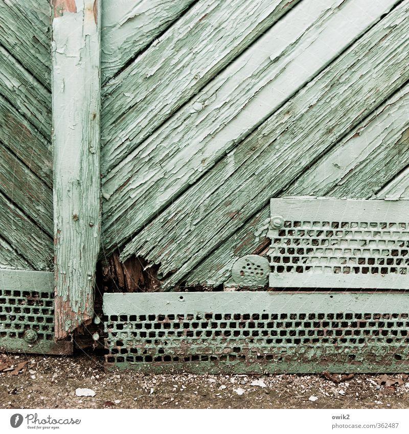 Unten alt Holz türkis trashig