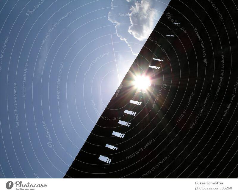 SonnenWand Sonne Mauer Europa Lichtspiel Abendsonne Mailand