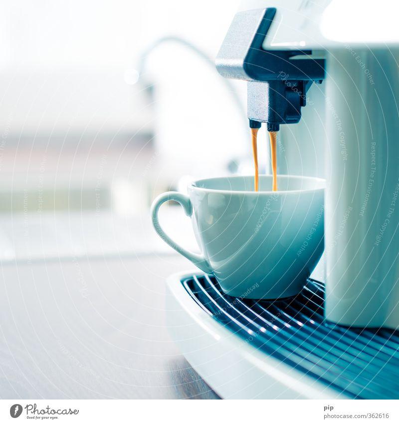 guter morgen Wärme hell braun Zufriedenheit Lifestyle frisch Getränk genießen Sauberkeit Kochen & Garen & Backen Kaffee Küche heiß Café Tasse fließen