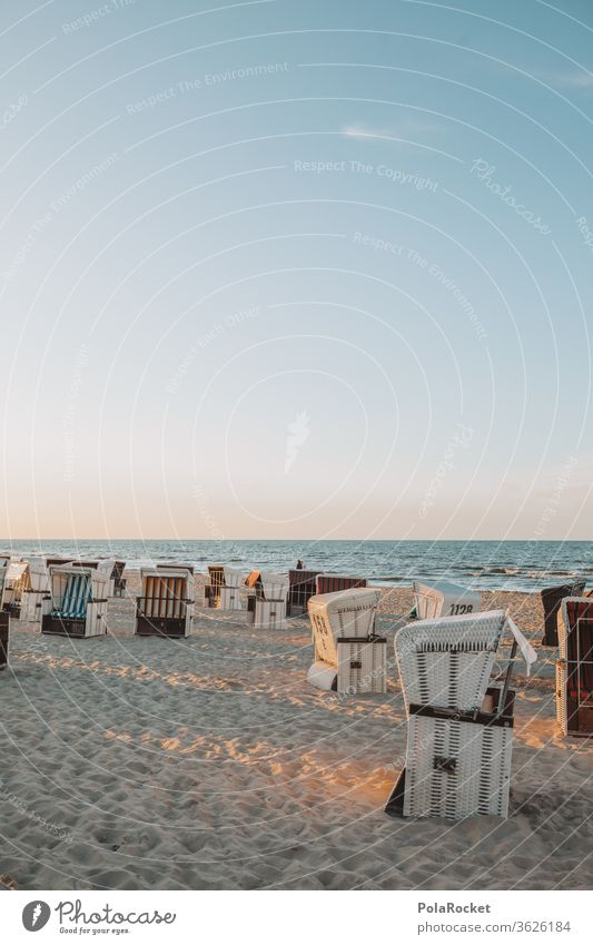 #A# Ostseestrandkörbe im Sonnenuntergang ostseeküste Ostseeurlaub Ostseeinsel ostseebad ostseesand Strandkorb Strandkorbvermietung Strandkörbe Strandleben Küste