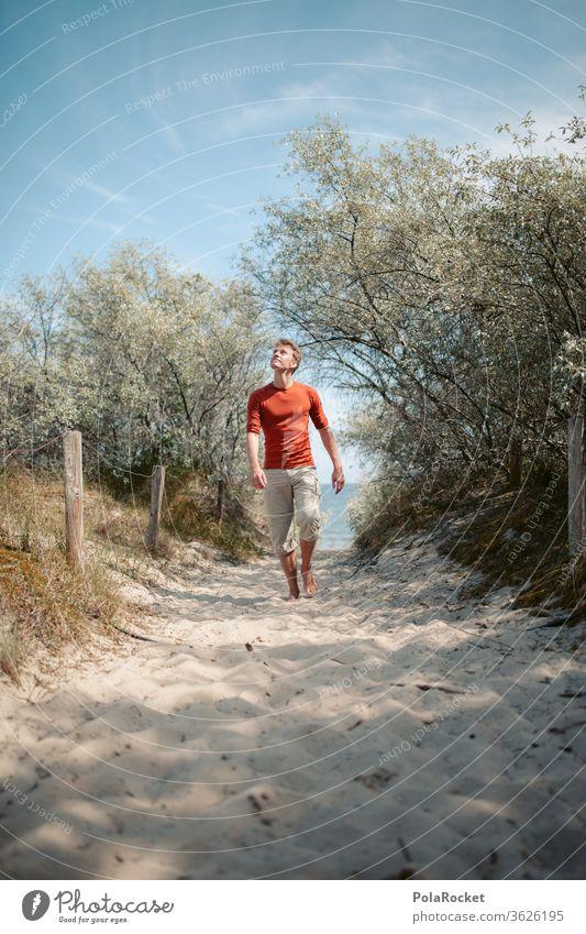 #A# Ostsee und zurück verträumt Ostseeküste Zukunft Wasser laufen Farbfoto Mecklenburg-Vorpommern Sand Tourismus Natur Außenaufnahme Idylle Meer