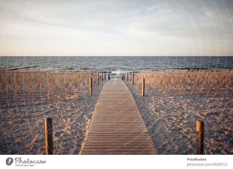 #A# Ostseeküste Landschaft Wasser Farbfoto Mecklenburg-Vorpommern Himmel Sand Außenaufnahme Natur Tourismus Ferien & Urlaub & Reisen Meer Idylle Erholung