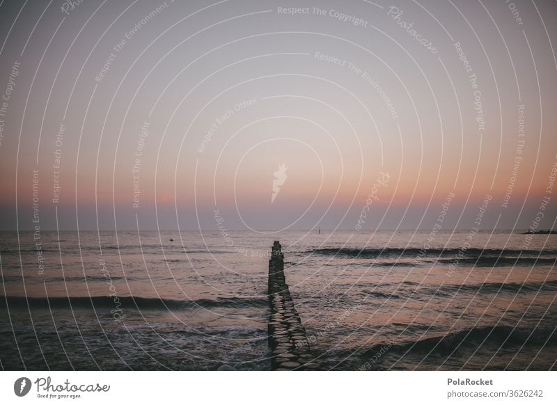 #A# Sonnenaufgang in Ostsee-Rosa ostseeküste Ostseestrand Ostseeküste Ausflugsziel romantisch Romantik Landschaft Wasser Farbfoto Mecklenburg-Vorpommern Himmel
