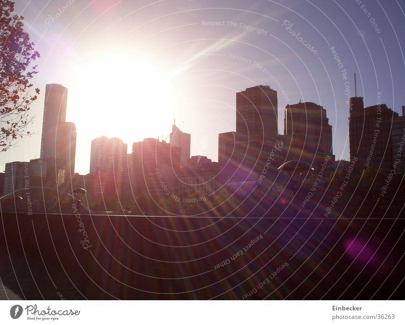 Skyline von Melbourne Sonne Hochhaus Skyline Australien Melbourne