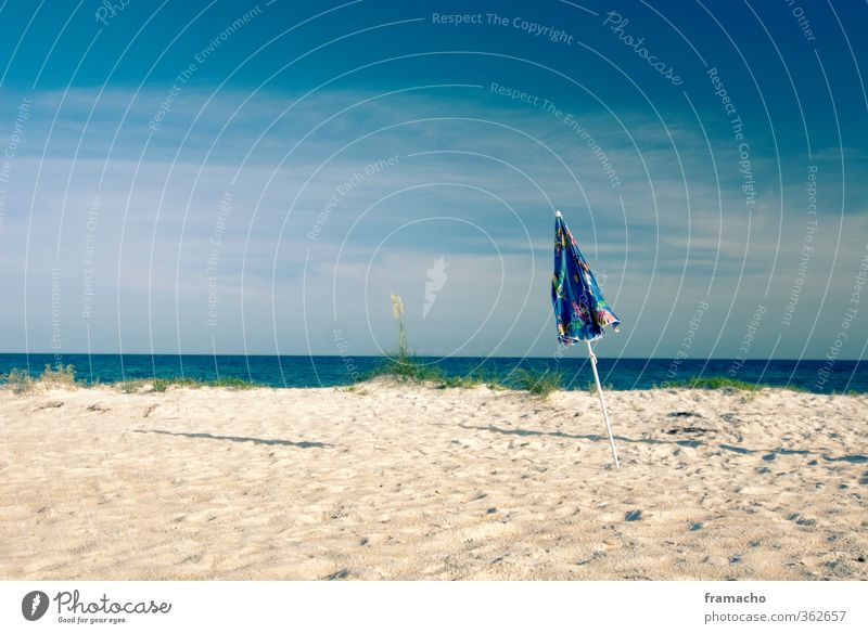 Strand Ferien & Urlaub & Reisen Wasser Sommer Sonne Meer Erholung Einsamkeit Landschaft ruhig Umwelt Wärme Freiheit Küste Sand Freizeit & Hobby