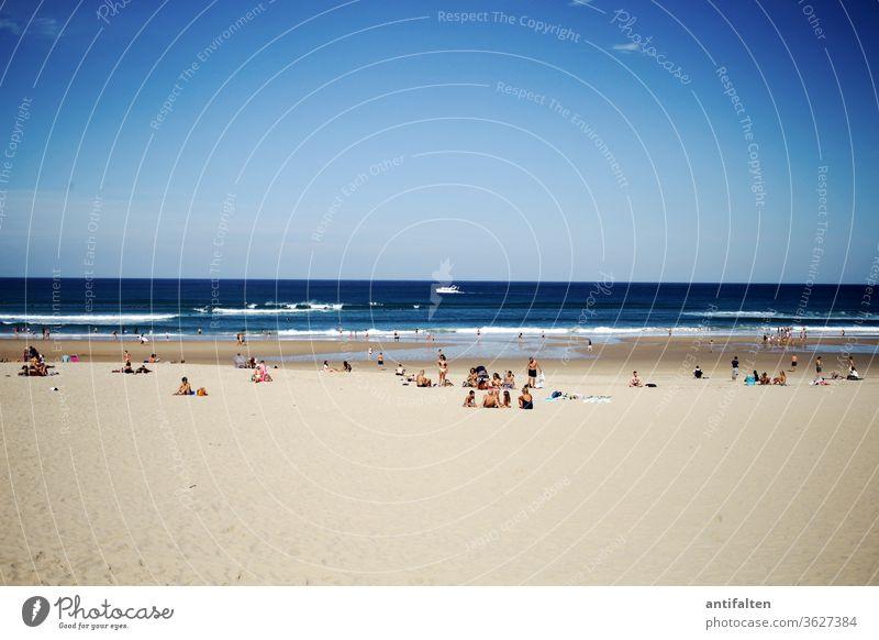 Ich will Meer Urlaub Strand Ferien & Urlaub & Reisen Sand Wasser Wellen Küste Sommer Himmel Erholung Horizont Ferne blau Außenaufnahme Tag Natur Farbfoto