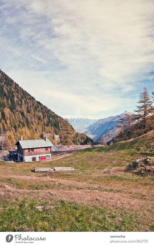 Alpenluft Himmel Natur Ferien & Urlaub & Reisen Landschaft Wolken Haus Ferne Berge u. Gebirge Umwelt natürlich Freiheit Felsen Freizeit & Hobby Luft frisch
